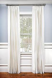 Curtains And Drapes Amazon Amazon Com 100 Linen Pinch Pleated Lined Window Curtain Panel