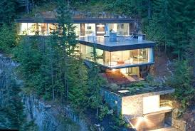 steep hillside house plans building on a hillside plans river rear elevation hillside building
