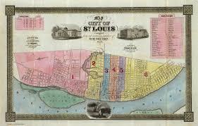 map st louis maps of st louis 1764 1960
