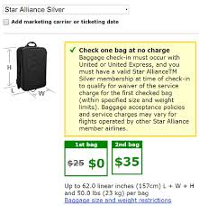 bag fee united united gives free checked bags again to star alliance silver