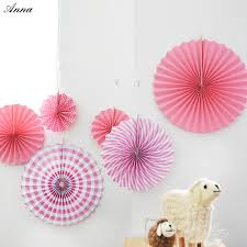 cheap paper fans 6pcs lot pink cheap paper fans for wedding tissue paper fans