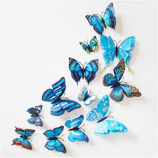 12 pcs 3d butterfly wall stickers home diy decor wall decals for