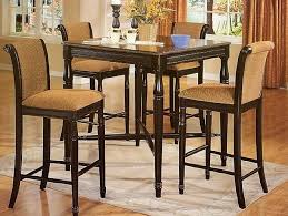 kitchen table sets with bench brown high gloss wood countertops