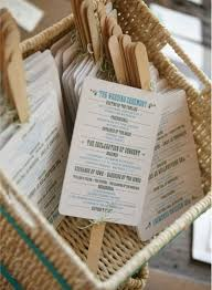 what goes on a wedding program wedding favor fans