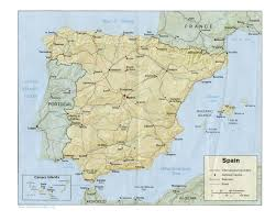 Map Of Spain And Morocco by Map Of Spain A Source For All Kinds Of Maps Of Spain