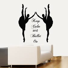 online get cheap vinyl sports quotes aliexpress alibaba group russia wall decals keep calm and ballet quote ballerina studio sport home vinyl