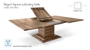exquisite design square extendable dining table fashionable regent