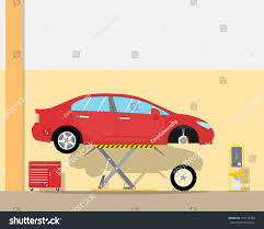 The Replacement View Interior Inside Garage Replacement Car Stock Vector 372152983