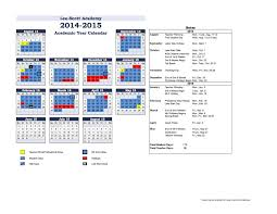 2014 2015 academic calendar approved