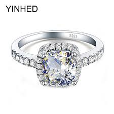 rings sale cheap images Hot sale 100 925 sterling silver big 4 carat cz diamant crystal jpg