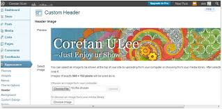 cara membuat background di blog wordpress cara membuat header pada wordpress coretan ulee