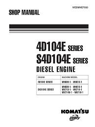 komatsu 4d104e s4d104e engine service manual pdf turbocharger
