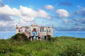 abandoned beach house on north coast of durban south africa stock