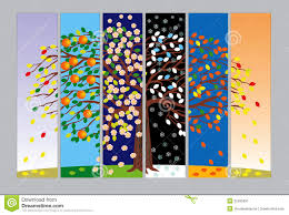 banners with tree in different seasons stock image image 25295991