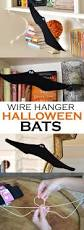 diy wire hanger bats for halloween wire hangers diy halloween