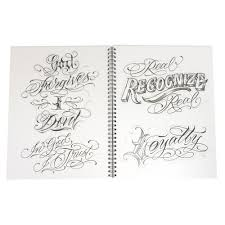 blood sweat u0026 script tattoo flash design book