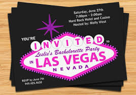 wedding invitations las vegas las vegas bachelorette party invitation wedding invitation