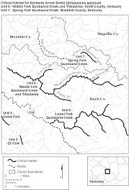 County Map Kentucky Jurist Endangered And Threatened Wildlife And Plants