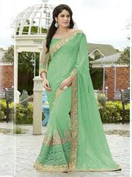 Light Green Color by Online Shopping Light Green Color Designer Saree Wedding Collection