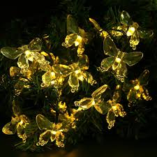 lumiparty garland led christmas outdoor lighting solar fairy