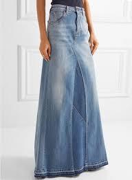 denim maxi skirt women s fashion high waist denim maxi skirt azbro