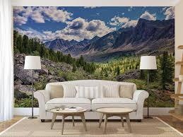 wall decor home decor home living wall decal pine trees tree wall decal wall mural decal forest wall mural