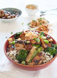 Red Kitchen Recipes - chinese chicken rice bowl in my red kitchen