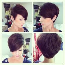haircuts with longer sides and shorter back 231 best hairstyles images on pinterest pixie cuts hair cut and