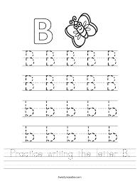 printable letter b tracing worksheets for preschool deployday