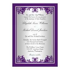 Purple And Silver Wedding Invitations Simple Elegant Wedding Invitations Wedding Ideas