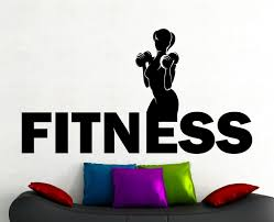 fitness wall decal gym stickers sports wall art fitness club zoom