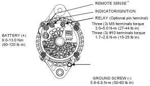 alternators 240 24103 delco 24si 160a 12v irif pad mount