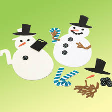 foam snowman christmas cards stickers u0026 decoration blanks from