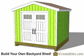 Plans To Build A Wooden Shed by 10x10 Shed Plans Storage Sheds U0026 Small Horse Barn Designs