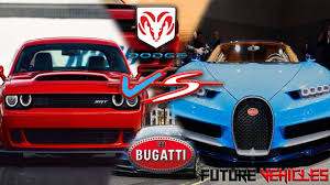 future bugatti dodge srt demon vs beat bugatti chiron 2018 future vehicles