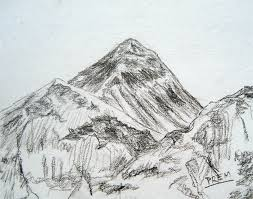 art by prem u2022 com sketches of mt everest and mt machhapuchhre