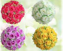 silk flower centerpieces 6 8 17cm silk flower wedding balls pomander decorative