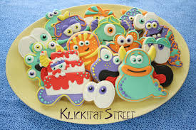Decorated Halloween Sugar Cookies by Monster Cookies From Any Cookie Cutter Klickitat Street