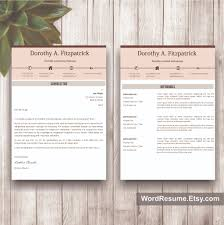 Office Word Resume Template Creative Cv Template With Cover Letter And References Word