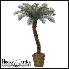 6 artificial small sago palm tree outdoor