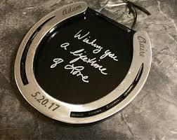 Personalized Horseshoe Horseshoe Gift Etsy