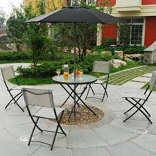 Folding Patio Furniture Sets - dining room comfortable folding chairs with gray seat and wrought
