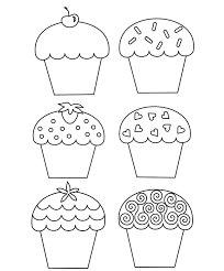 sweet cupcake coloring page foods coloring pages of