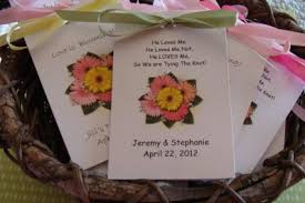 seed favors gerber mix gerbera bridal shower wedding flower seeds favors