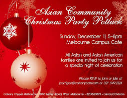 asian community christmas party potluck asia trend