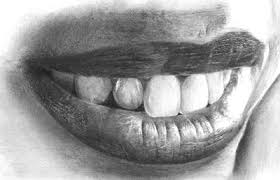 drawing realistic mouth and teeth onlypencil drawing tutorials