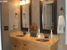 Bathroom Mirrors Framed by Frame Bathroom Mirrors And Paint To Match Cabinets Dyi Iii