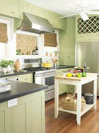kitchens with shelves green green kitchen cabinets better homes gardens