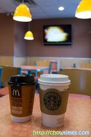 Coffee Mcd between mcdonalds and starbucks coffee