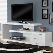 Tv Stands Furniture Monarch Tv Stand White With 1 Drawer For Tvs Up To 47